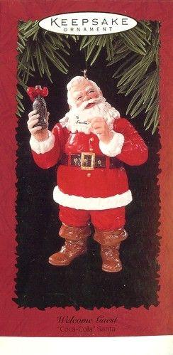 coca cola santas | Hallmark Ornaments: Welcome Guest - Coca-Cola Santa - 1996, 1996 ...