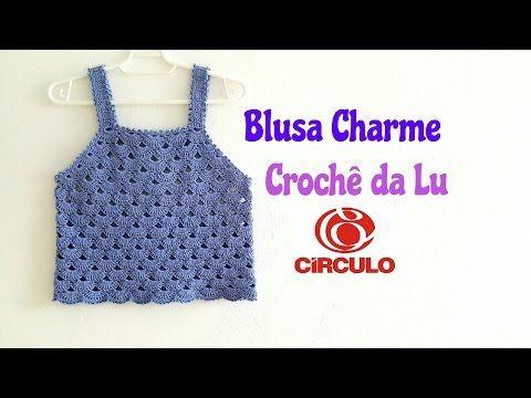 Blusa Charme em crochê - passo a passo - YouTube