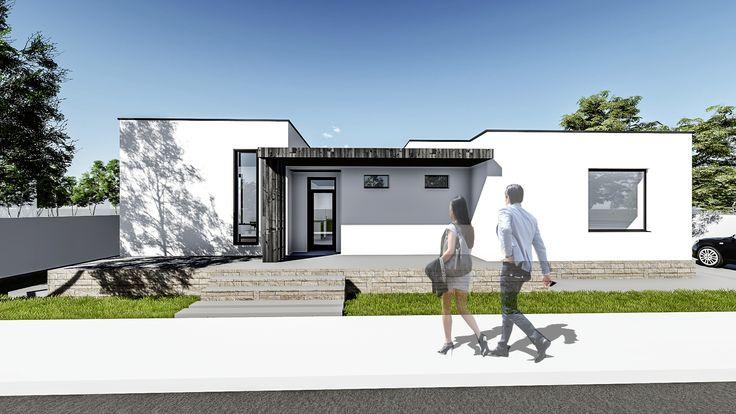 Proiect casa CAMPINA. Parter   3 camere   100mp. Mai multe detalii gasiti aici:  www.uberhause.ro/proiect-casa-parter-100-m2-campina