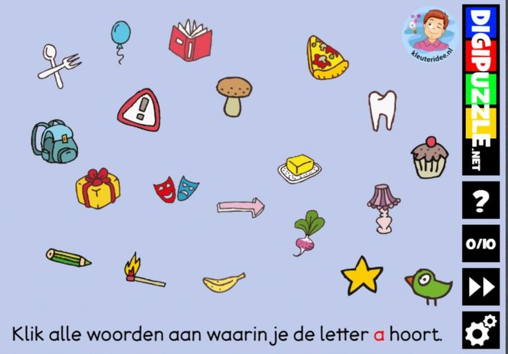 Kleuteridee.nl, Interactief letterspel bij de letter a ...