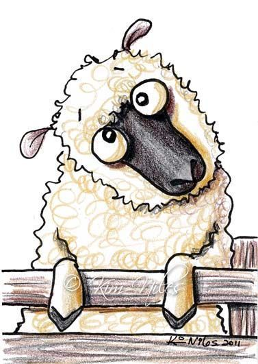 etsy sheep art | ... - by Nata ArtistaDonna from Cartoon Illustrative Work Art Gallery