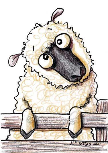 etsy sheep art   ... - by Nata ArtistaDonna from Cartoon Illustrative Work Art Gallery