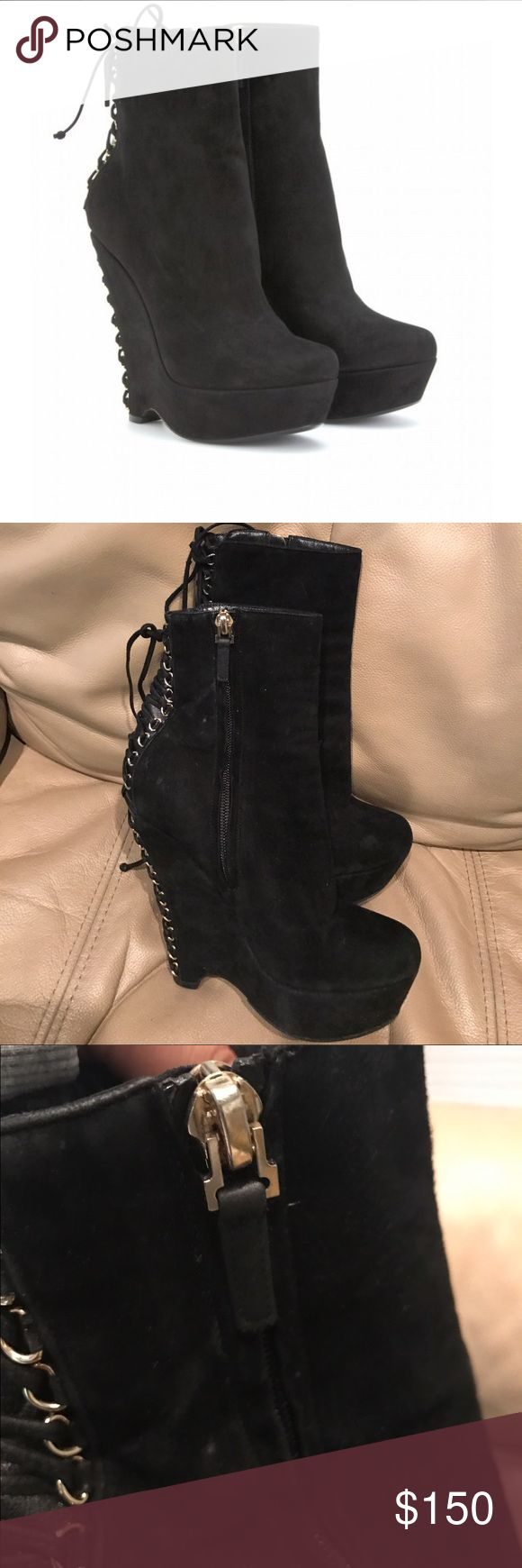 Yves Saint Laurent Madge 105 boots Good overall condition.  Boots have been resole. Need some light cleaning. Price is negotiable. Yves Saint Laurent Shoes Ankle Boots & Booties