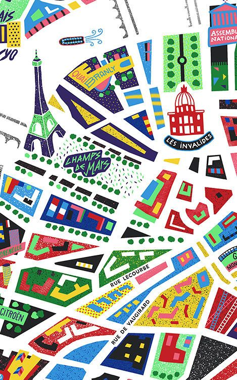 An Awesome Neon Map Of Paris