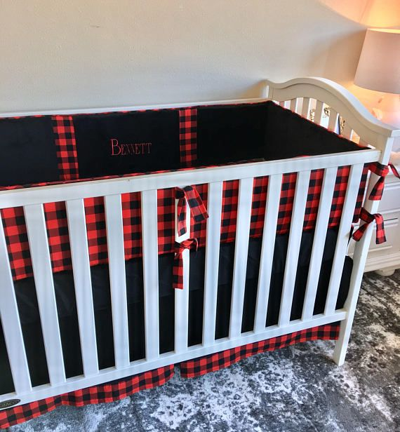 Black Crib Skirt, Red and Black Buffalo Check Crib Skirt, Tailored Crib Skirt, Red Crib Skirt, Baby Bed Skirt, Crib Skirt, Boy Crib Skirt Tailored Crib Skirt made in our adorable black and red and black buffalo check! Our crib dust ruffles are the perfect amount of stylish and we
