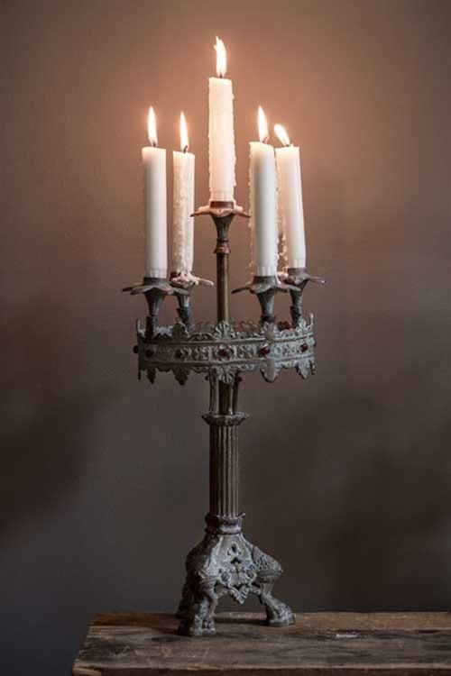 Love this antique candelabra... #home #details #accents