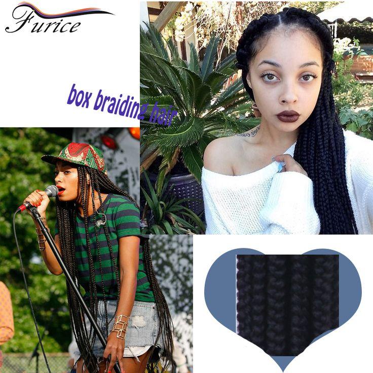 Top Quality Synthetic 3X Box Braids ombre braiding hair extension havana twist box braids burgundy  freeress hair jumbo braids