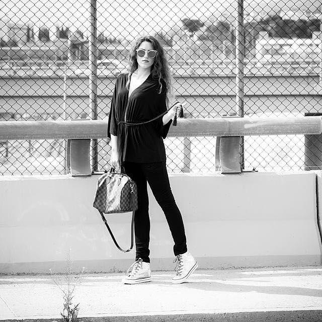 Walk in the #sun  @fiafashionbrand #tracksuit & @migato #wedgesneakers ✔️ #lookbook #lovefashiongr #fashion #fashionable #fashionblogger #fashionblog #greekbloggers #fiafashion #black #migato #sneakers #louisvuitton #followme