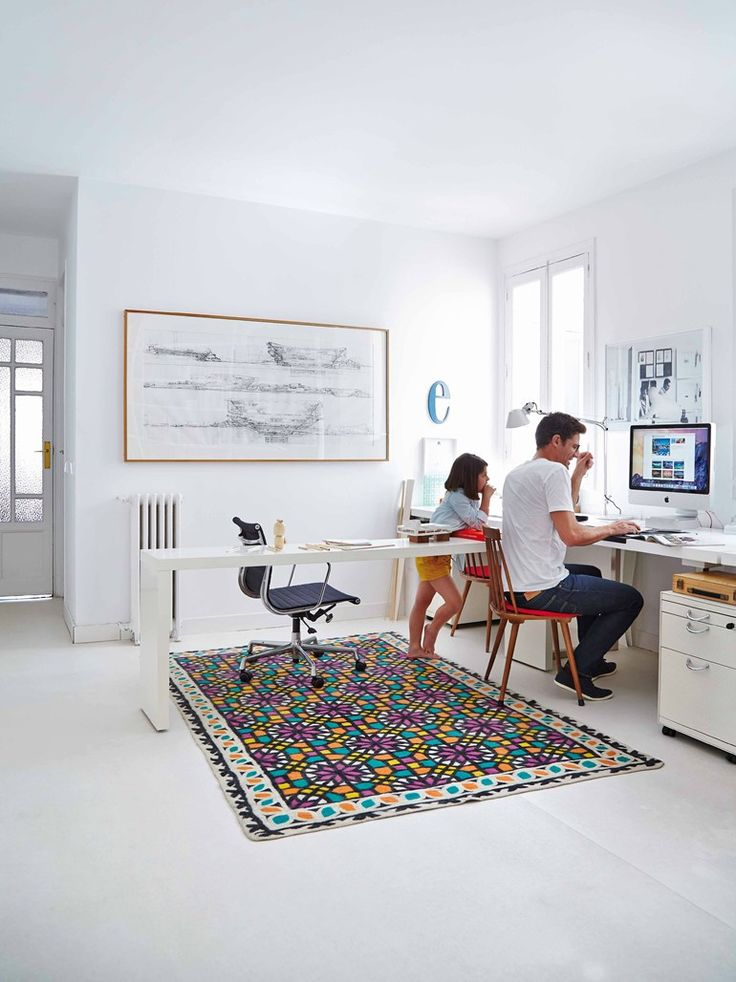 Wool rug with geometric shapes SMOOTH - GAN By Gandia Blasco
