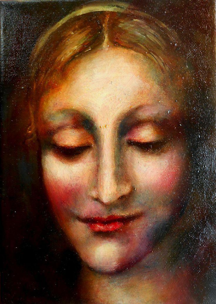 Portrait.oil on canvas.21/15cm.