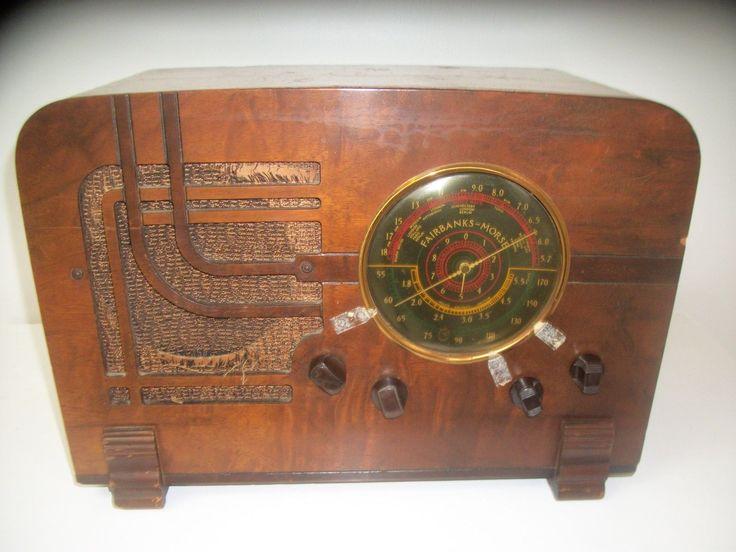 1937 Wooden Tabletop FAIRBANKS-MORSE Tube RADIO Model 5CT3 AM/SW --Needs Work-- | eBay