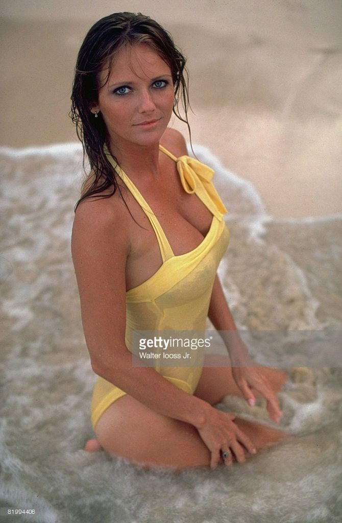 News Photo : Model Cheryl Tiegs poses for the 1983 Sports...