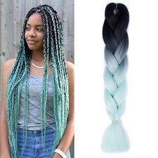"1Pcs Light Green 24"" Jumbo Kanekalon Braiding Hair Synthetic Hair Extensions in Health & Beauty, Hair Care & Styling, Hair Extensions & Wigs, Hair Extensions | eBay"