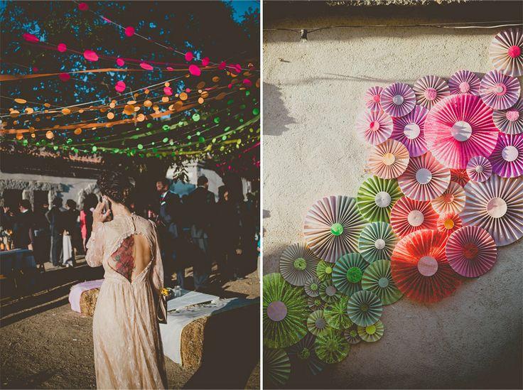 Spanish Multicolor Wedding - strings on left (frenchkissthebride.com)