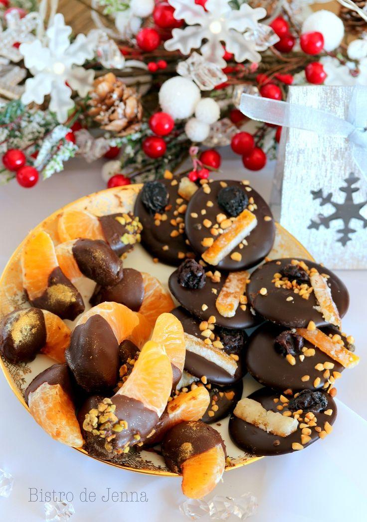 Quartiers de mandarine au chocolat noir