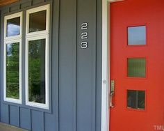 door: Mid Century Modern, Red Doors, Idea, Paintings Colors, Google Search, Front Doors, Exterior Colors, Midcentury, Houses Numbers