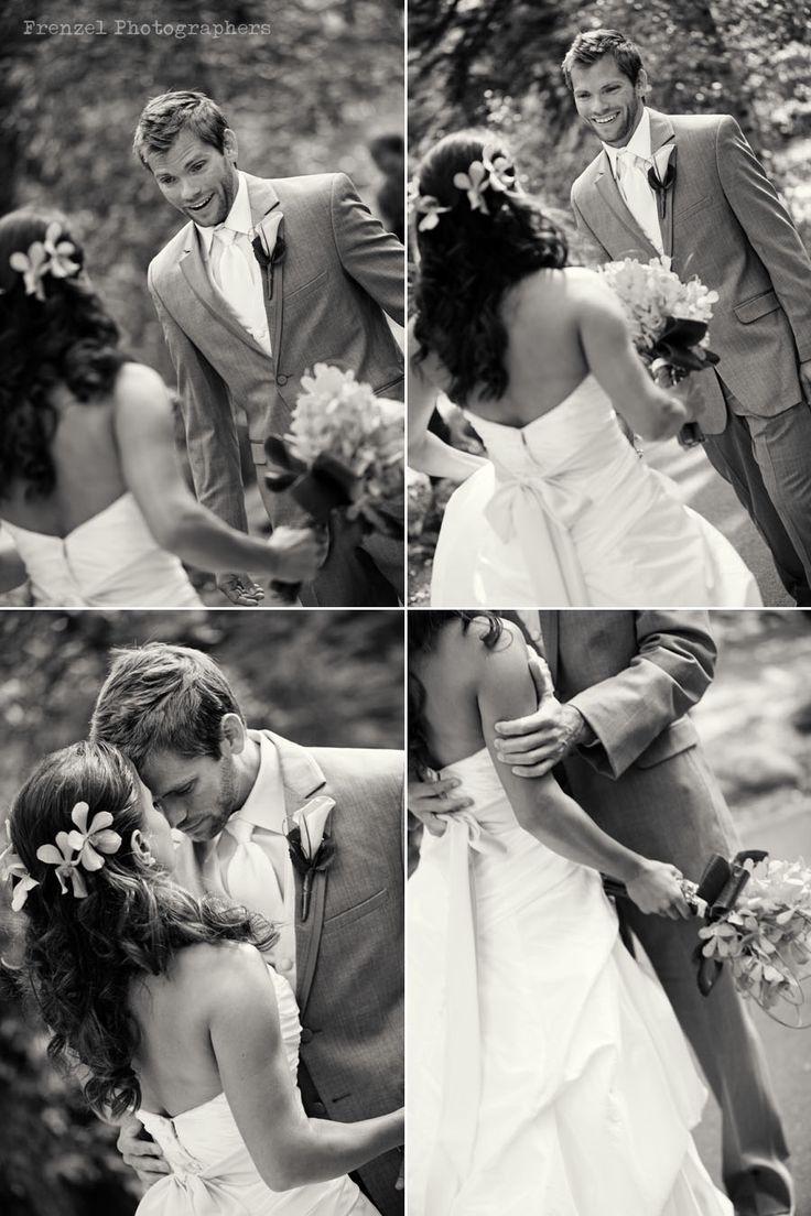 """first look"" wedding photos"