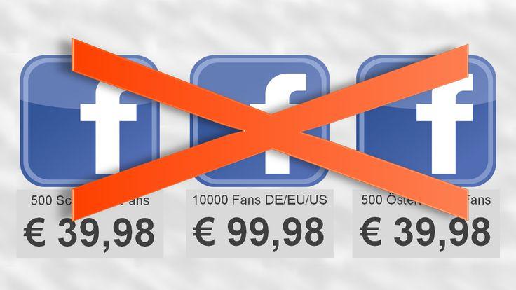 """""""Ein tolles Angebot: 10.000 Fans bei #Facebook für noch nicht mal 100,- EUR. Ein Schnäppchen."""" - Aber bitte nicht auf derartige Angebote reinfallen!"""