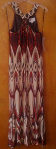 Julian Taylor New York Beautiful Aztec Long Dress Cocktail Party Evening Summer | eBay