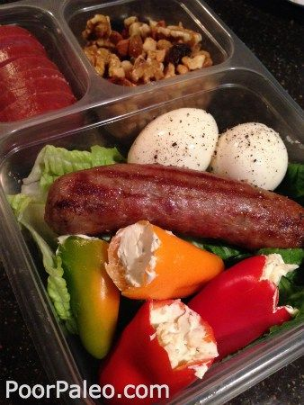 Adult Paleo Lunch Box Sausage Wrap. Paleo lunch box ideas! Want to lose weight? Follow my weight loss journey!