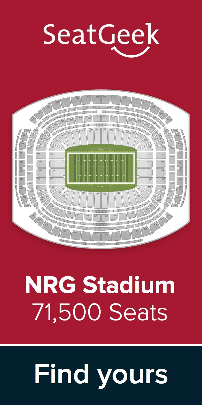 The best deals for Texans tickets are on SeatGeek!