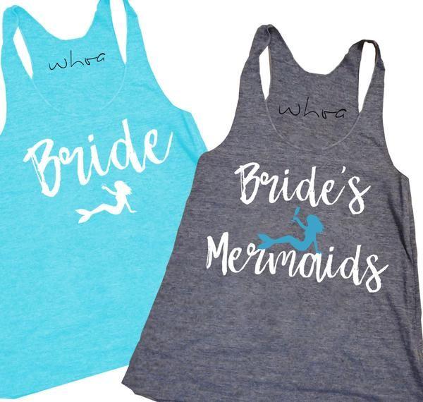 Bride / Bride's Mermaids Tank. XS-2XL, Bachelorette Tank, Bachelorette Party.
