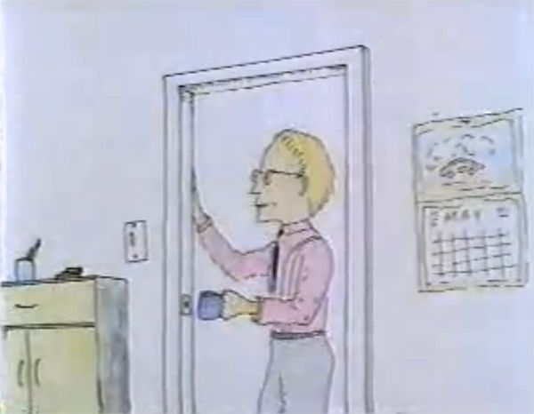 "The original ""Milton"" cartoon shorts Mike Judge did for SNL and MTV's Liquid Television circa '91 (that the 1999 movie was based on ~ http://en.wikipedia.org/wiki/Office_Space)."