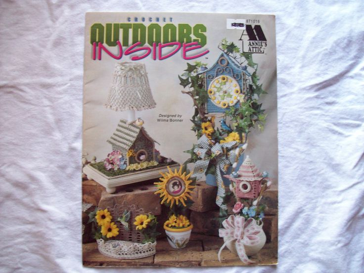 Crochet Pattern Book Outdoors Inside Annie's by CozyHomeCrochet