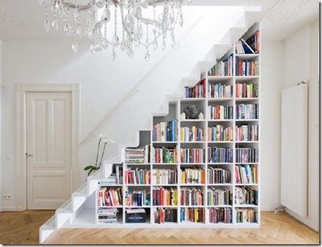 Oh how I wish I had a stair case.....Ideas, Bookshelves, Basements Stairs, Stairs Storage, Book Storage, Bookcas, Understairs, Book Shelves, Under Stairs
