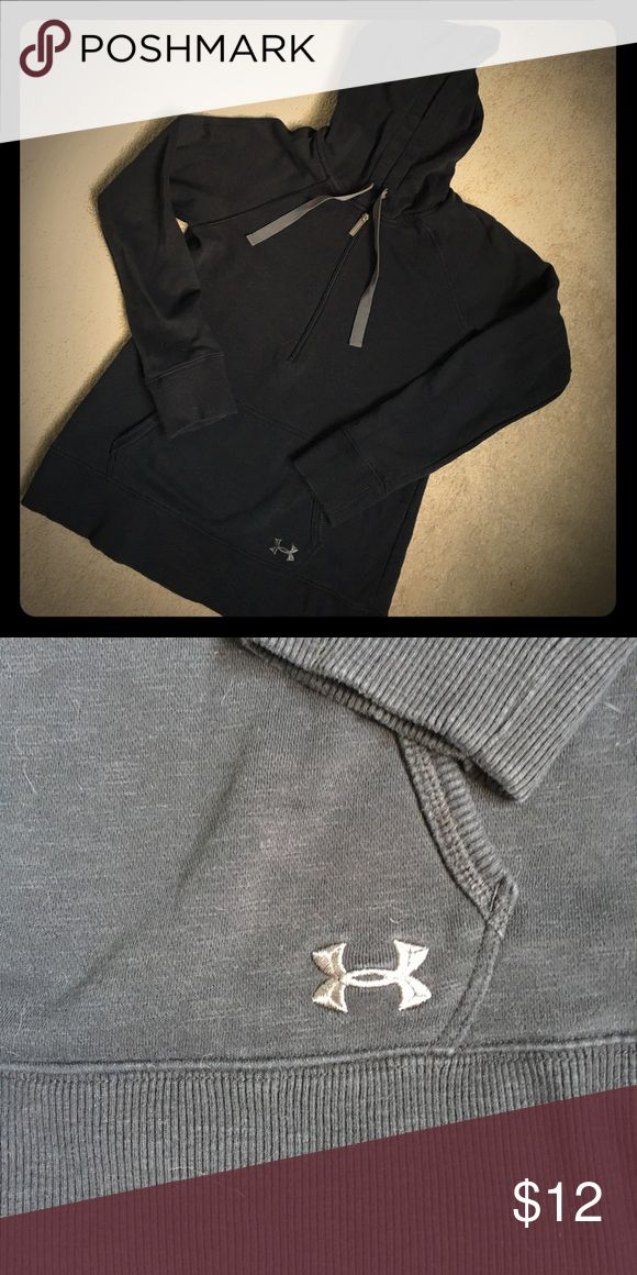 Under Armour Storm Gear hoodie - medium. Black UA half zip hoodie with pocket. Storm Gear - meaning it's water resistant, even though it's knit! Soft and cozy like a normal sweatshirt. Very good used condition. Under Armour Tops Sweatshirts & Hoodies