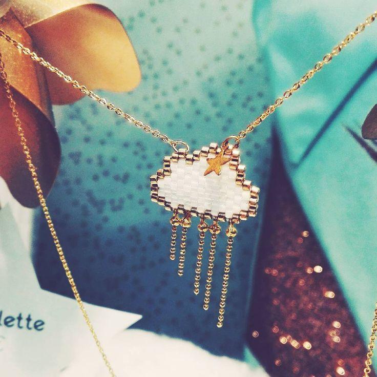 """Le kit """"Perlette"""" en tissage peyote vous attend en boutique et sur notre site www.fifijolipois.com ! #kit #bijoux #tissage #peyote #miyukibeads #nuage #perlette #boutique #e-shop"""