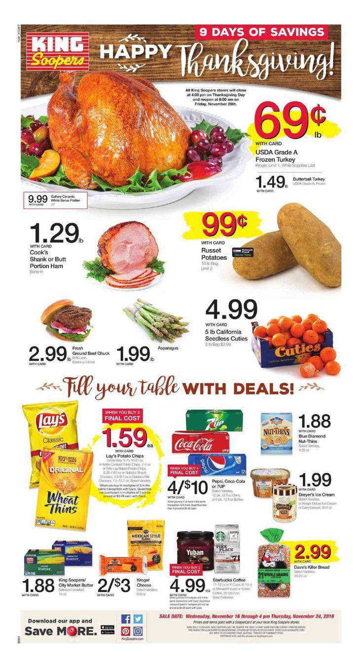 King Soopers weekly ad November 16 - 24, 2016 - http://www.olcatalog.com/grocery/king-soopers-weekly-ad.html
