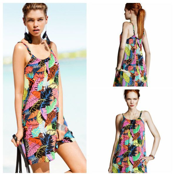 Cheap dress up sexy women, Buy Quality dress sara directly from China covers for vacuum cleaners Suppliers:   Bohemian Style Honeymoon Cocktail Cotton vacation Holiday Travel Beach Sea Pattern r Spaghetti St