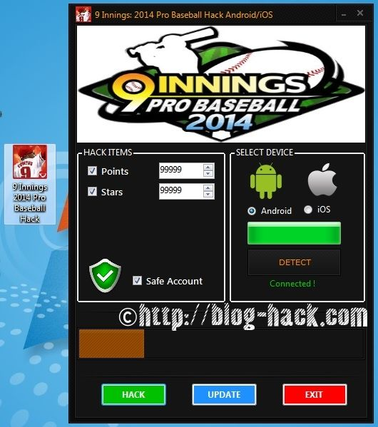 9 Innings 2014 Pro Baseball Hack Points Stars Android Apk