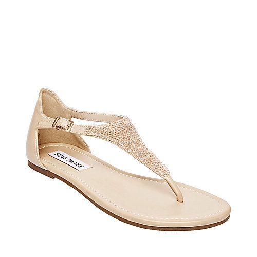 SKEETERR BLUSH MULTI women's sandal flat thong - Steve Madden
