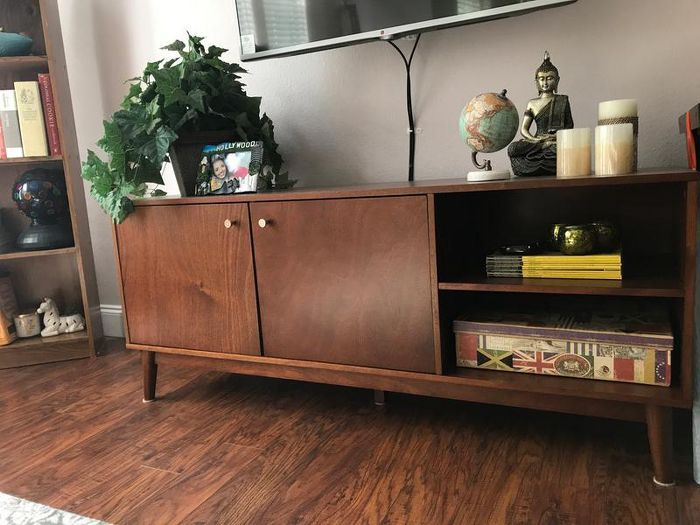 Amherst Mid Century Modern Tv Stand Brown Project 62 Mid