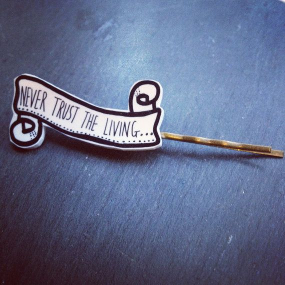 Beetlejuice Juno quote Never trust the living by wishbonedesigns, £4.00