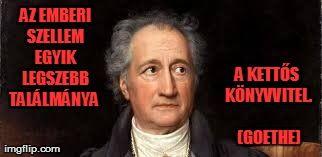 Goethe kettős könyvvitel