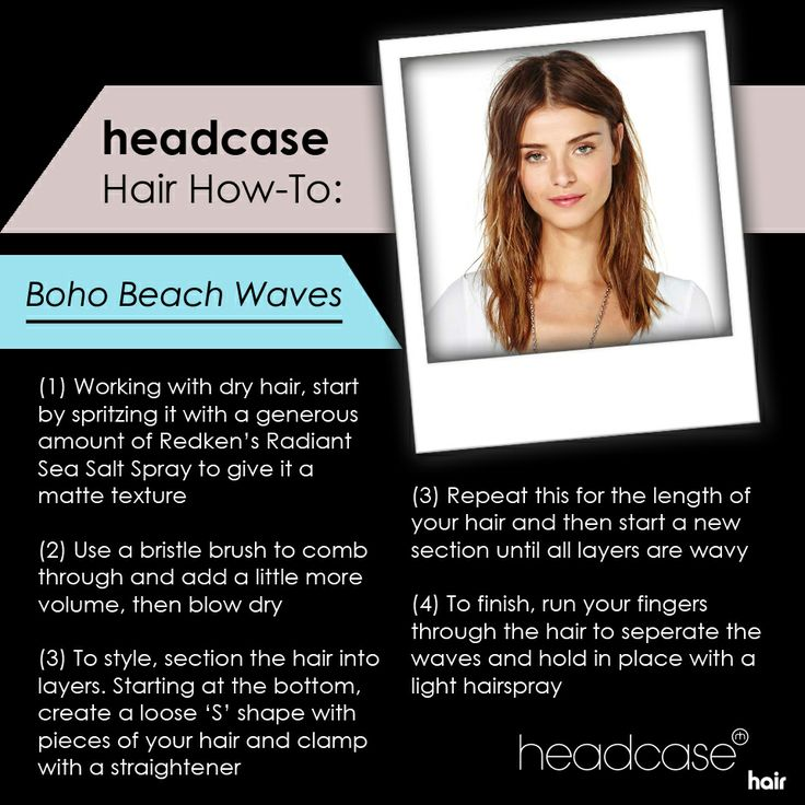 Follow the link for a step by step guide on creating the trendy boho beach wave look: #hairtrends #bohohair #beachhair