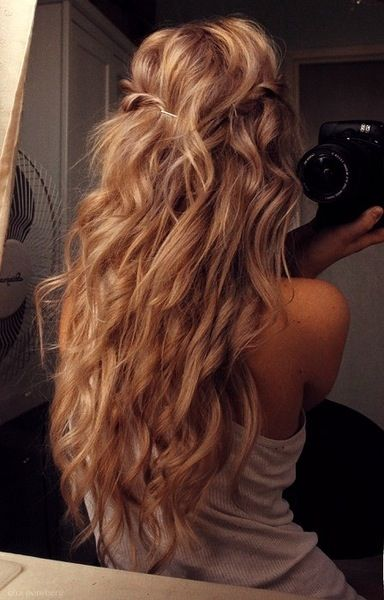 I need to grow my hair out and then find someone to perm my hair, so I can have these beautiful loose curls. ;)