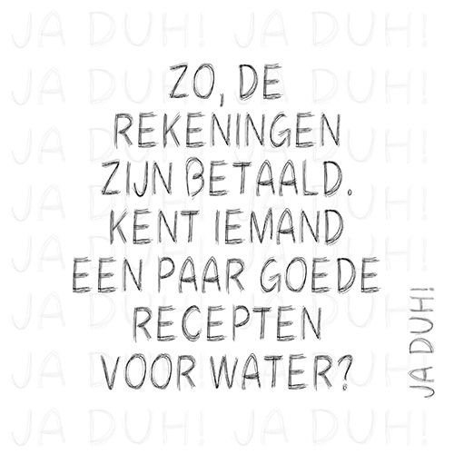 Rekeningen. Ja Duh! #humor #spreuk #Nederlands #lachen #lol #quote #tekst #herkenbaar #arm