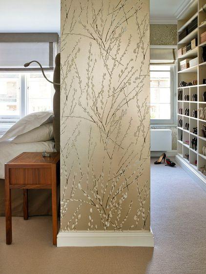 Walk In Closet Behind Partition Wall WANT Interior Design Tipsideas Bedroom Closet