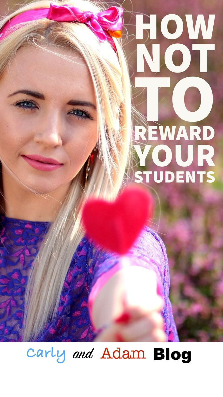 FREE list of classroom rewards! Learn about what types of rewards are effective for students in this blog post How NOT to RewardYour Students! (Carly and Adam Blog)