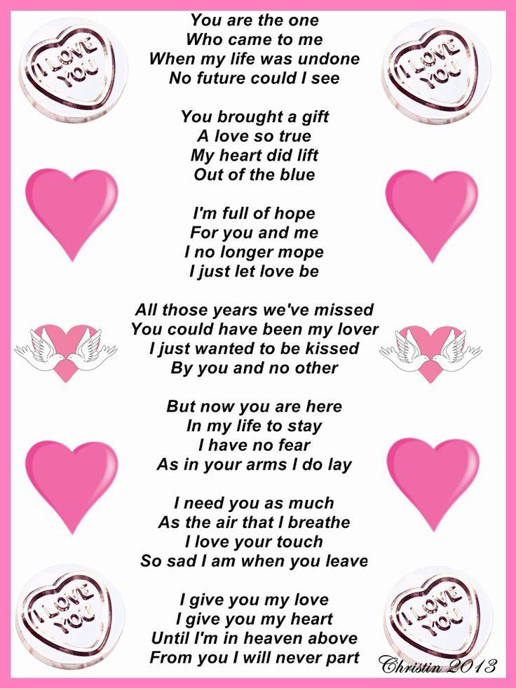 Love my girlfriend poem i why 52 Cute
