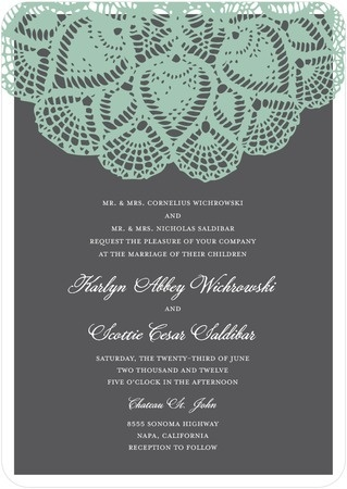 Wedding Invitations - Vintage Lace