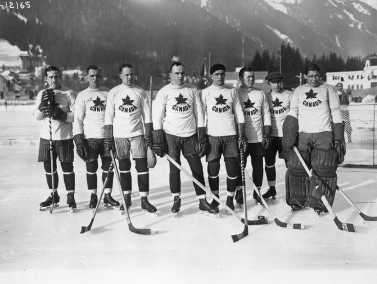 Canada was represented in hockey by The Toronto Granites at the 1924 first Olympic Winter Games. Canada won Gold.