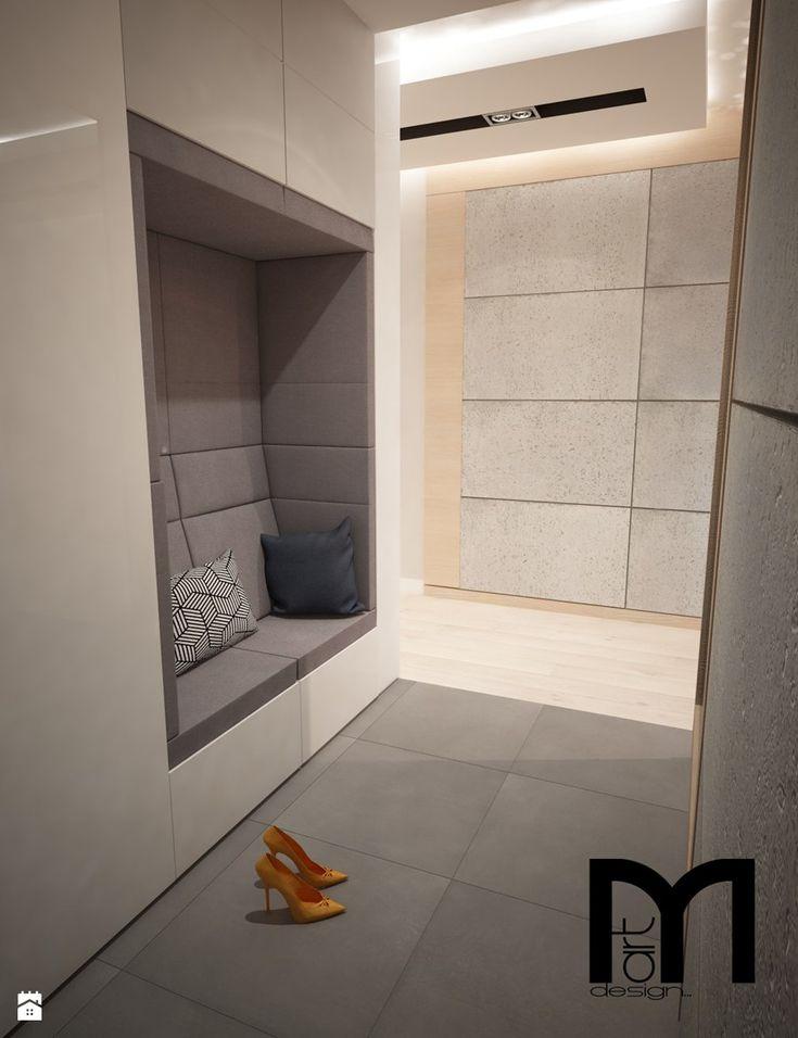 Projekt domu jednorodzinnego w Tobolicach - Hol / przedpokój, styl nowoczesny - zdjęcie od Mart-Design Architektura Wnętrz