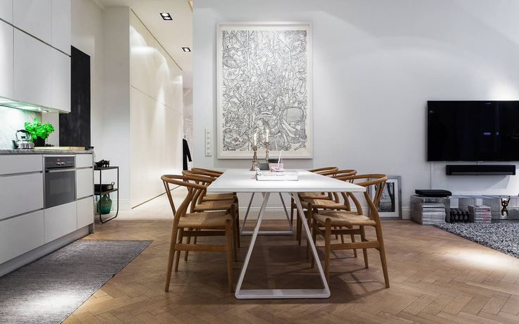 This airy and modern apartment is located in a dead end street in Östermalm, a large district in central Stockholm, Sweden. It measures 925 square feet and is currently for sale, offered at around $1.0 million. Buy it now! Photos courtesy of Alexander White