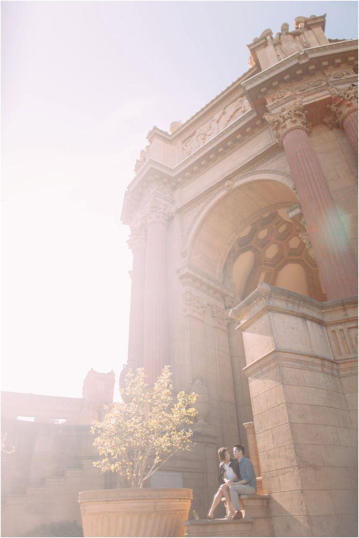San Francisco Engagement Photography at The Palace of Fine arts and Sutro Baths | matdivad photo