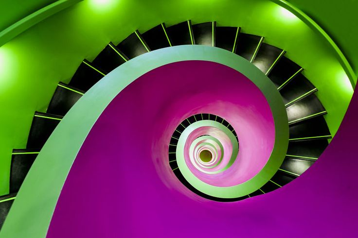 For more than 5 years now I travel through Germany to photograph amazing modern staircases.  To get these shots, I mostly have to sneak in private buildings to catch the staircase inside. I love the clear and sharp structure of staircases.